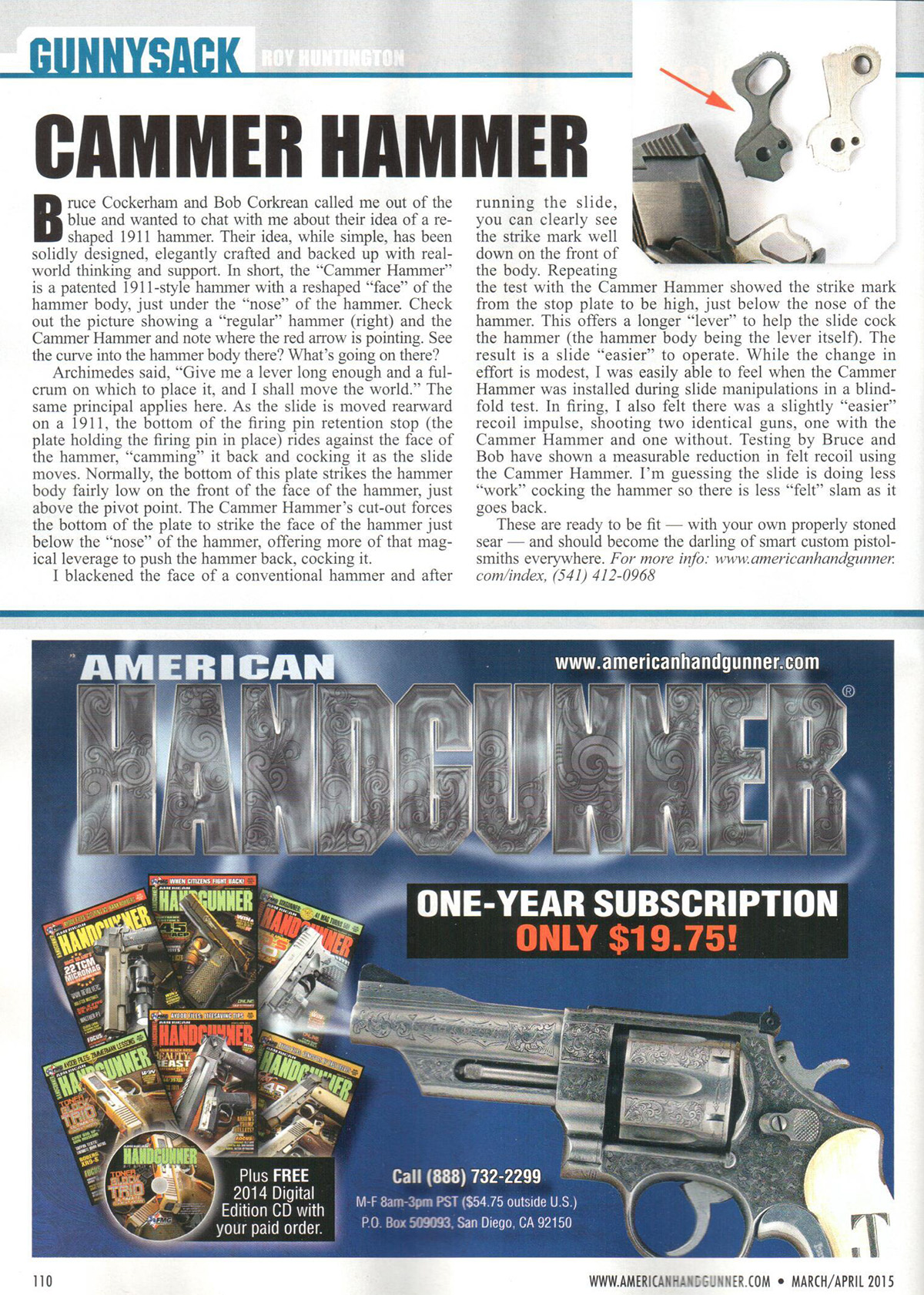American Handgunner Article